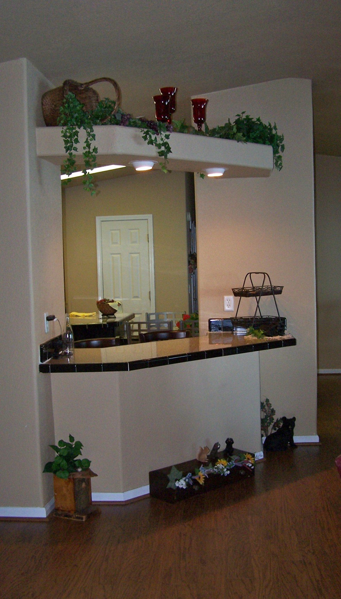 VIEW INTO KITCHEN FROM LIVING ROOM